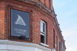 The Railway Pub & Dining Rooms branding