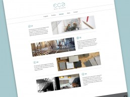 ECA Studio website, services page