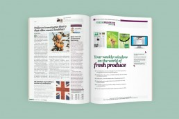 The Fresh Produce Journal, double page spread